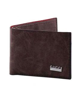 Gucci Dark Brown Leather Wallet for Men