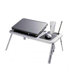 Table With Laptop Cooling Pad Black & White