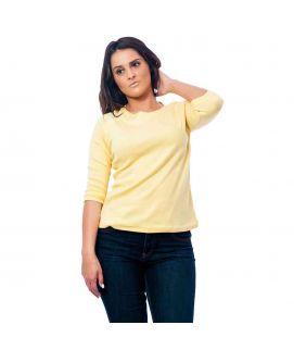 Women's Yellow Plain T-Shirt