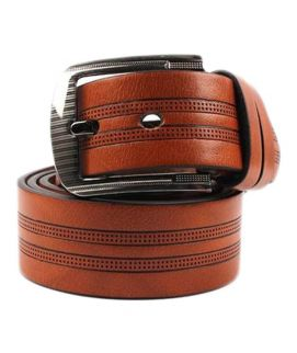 YNG Brown Leather Belt For Men