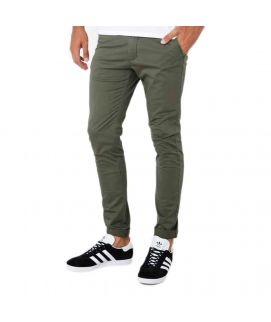 Army Green Cotton Chinos For Men