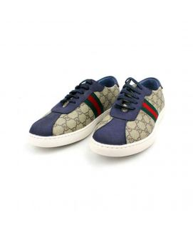 Men's YNG Navy Blue & Brown Trainers