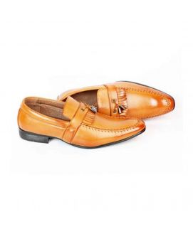 YNG Empire Camel Brown Leather Formal Shoes