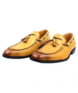 Men's YNG Brown Leather Oxfords Shoes