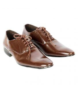 YNG Empire Men's Coffee Leather Casual Shoes