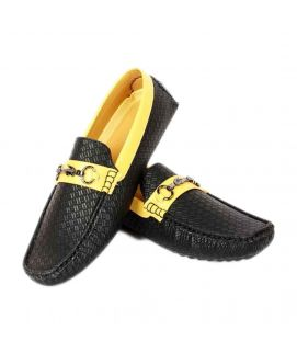 Men's Yellow & Black YNG Loafers