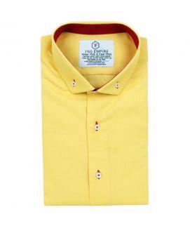 YNG Yellow Cotton Shirt for Men
