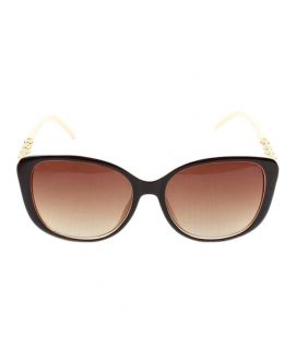 Butterfly Golden Rim With Brown Sunglasses For Ladies