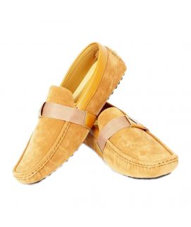 Men's YNG Camel Brown Leather Loafers