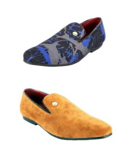 Pack Of 2 Suede Leather Loafers For Men
