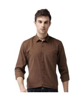 YNG Brown Casual Shirts For Men