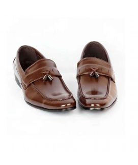 YNG Empire Coffee Leather Formal Shoes For Men