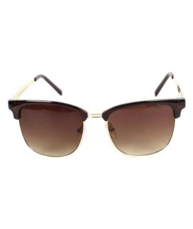 Unisex Clubmaster Inspired Sunglasses Brown