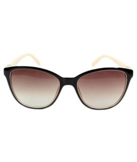 Ladies Brown Almond Shaped Silhouette Sunglasses