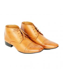 YNG Empire Camel Leather Formal Shoes For Men