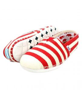 YNG Empire Red & White Toms for Men
