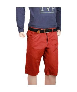 Red Cotton Shorts For Men