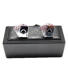 Ace Silver Stainless Steel Cuff links