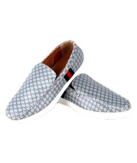 YNG Empire Grey & Blue Canvas Toms