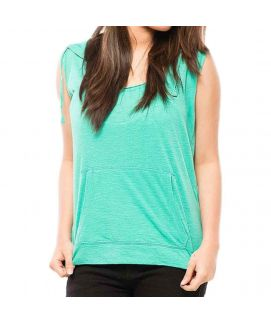 Z.E.A.L Turquoise Cotton Sleeveless Top For Women