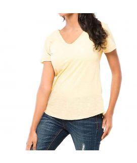 Z.E.A.L Yellow Cotton Shirt For Women