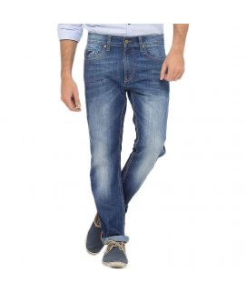 Mid Blue Classic Jeans For Men
