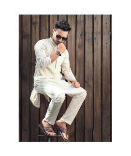 Men's White Kurta Shalwar