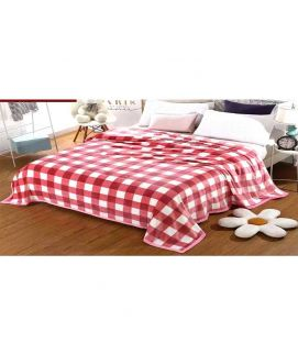 Fleece Blanket Red And White