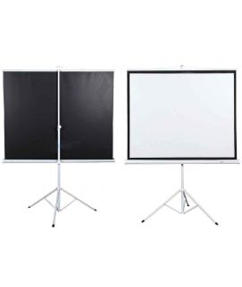 Projector Screen 72 Inch Tripod Portable 6x6 Feet 1_1MW Speed-X