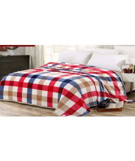 Fleece Blanket Brown And Red