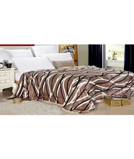 Fleece Blanket Brown And White
