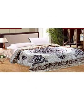 Fleece Blanket White And Brown