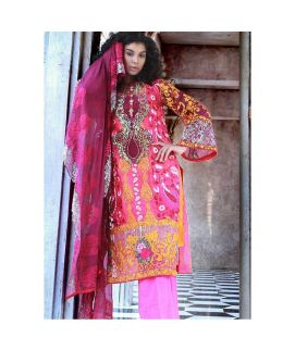 Nomi Ansari Embroidered Cotton Net Unstitched 3 Piece Suit NAWI 05 Winter Collection
