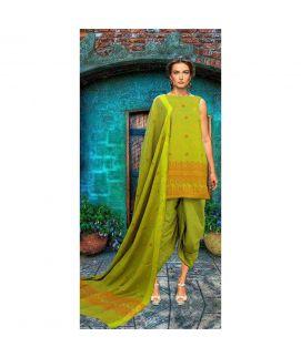 Satrang Khaadi Cotton Hand Weven Unstitched 3 Piece Suit 1003
