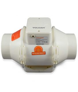 Voldam Mixed Flow In Line Duct Fan Exhaust Blower 8 Inch dia