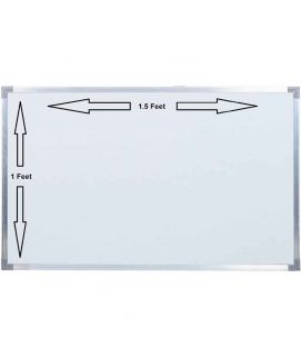 1ft x 1.5ft Dry Erase White Board Hanging Writing Drawing & Planning Whiteboard