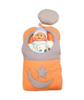Baby Carry Nest Moon Star Style Orange