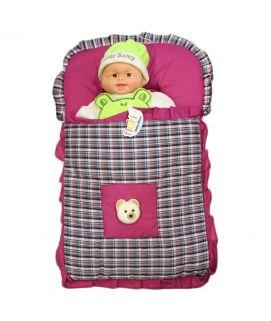 Baby Carry Nest Teddy Bear Purple