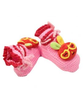 Baby Cartoon Printed Pink Shoes