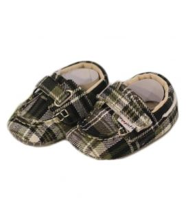 Baby Green Checkered Shoes