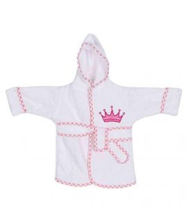 Baby Crown Design Bathrobe