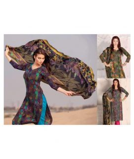 3 Pc Batik Lawn Printed Un-Stitched Suit